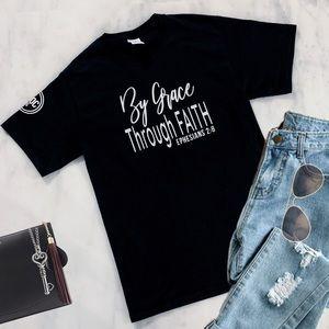 By Grace Through Faith Christian T-Shirt